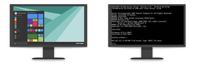 текстовый и графический интерфейс ос